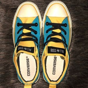 Blue and Yellow Converse All Stars ⭐️